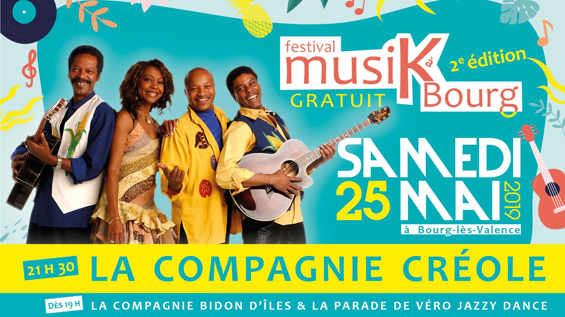 Festival Musikabourg identité visuelle de l'événement musical de la Ville de Bourg Lès Valence