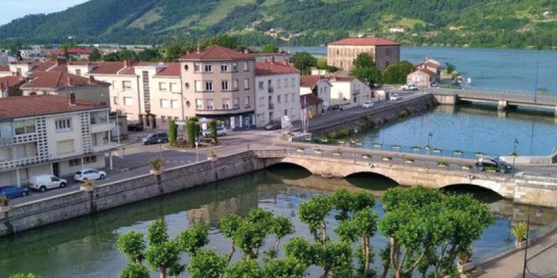 Ville de Saint-Vallier dans la Drôme