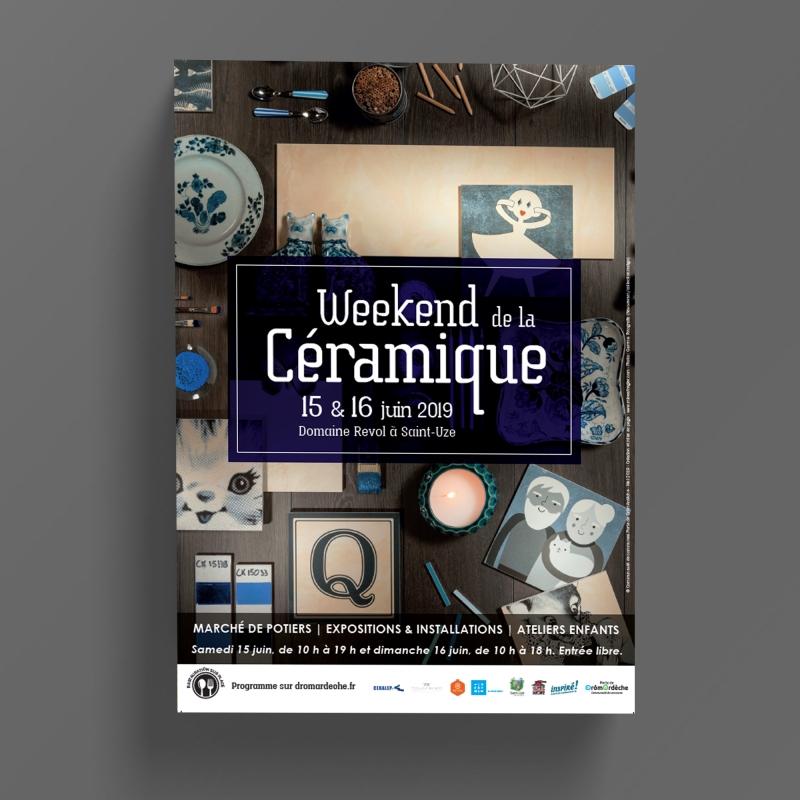 Affiche-Weekend de la ceramique 2019 - Ot Hauterives