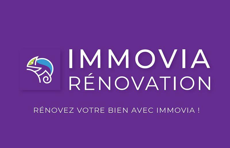 Logo et identité visuelle de Immovia Rénovation