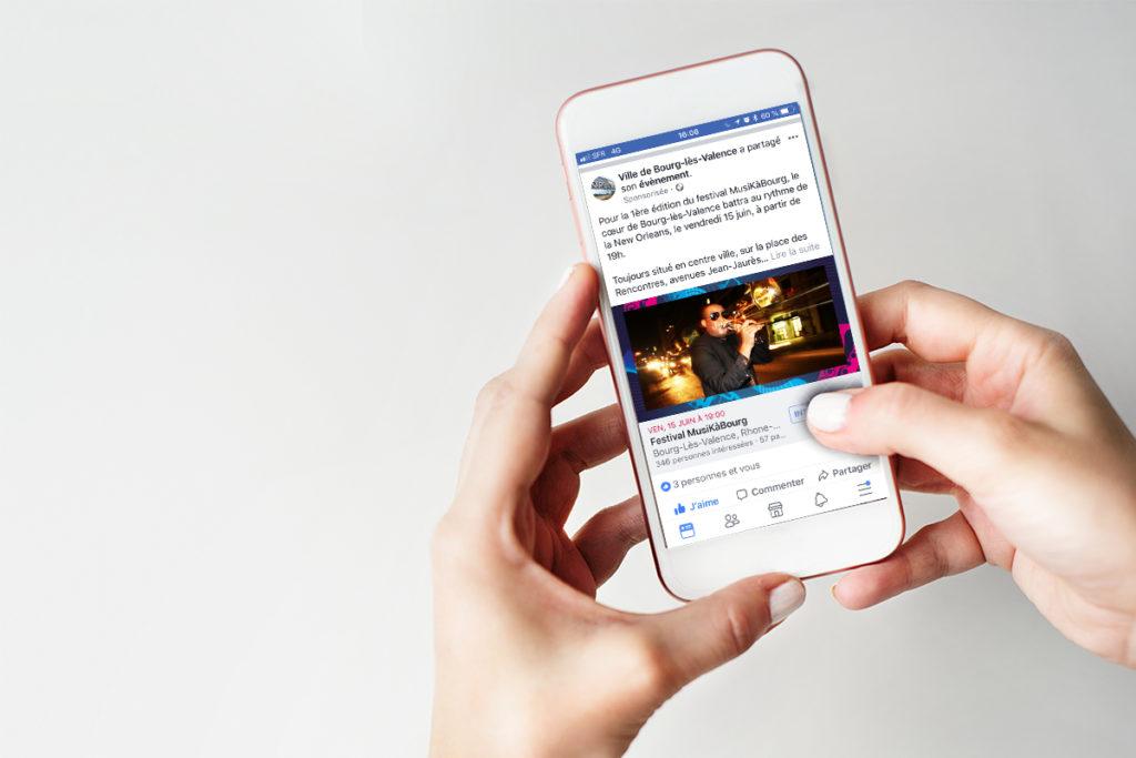 Campagne Facebook Ads pour le compte de la Ville de Bourg-Lès-Valence