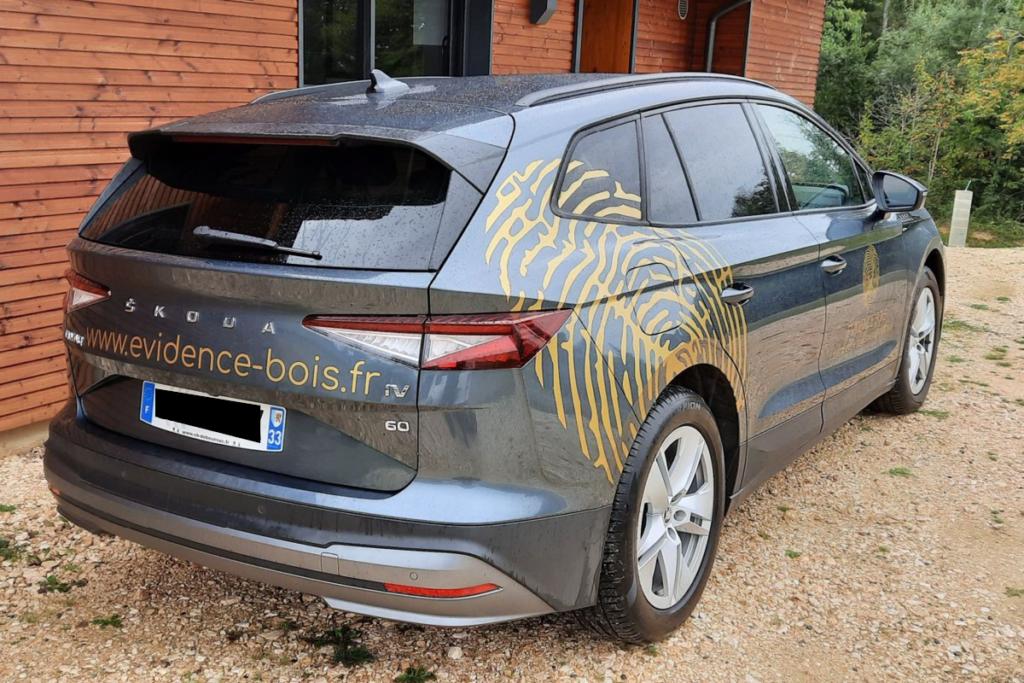 nouvelle identité visuelle et nouveau covering voiture pour Evidence Bois